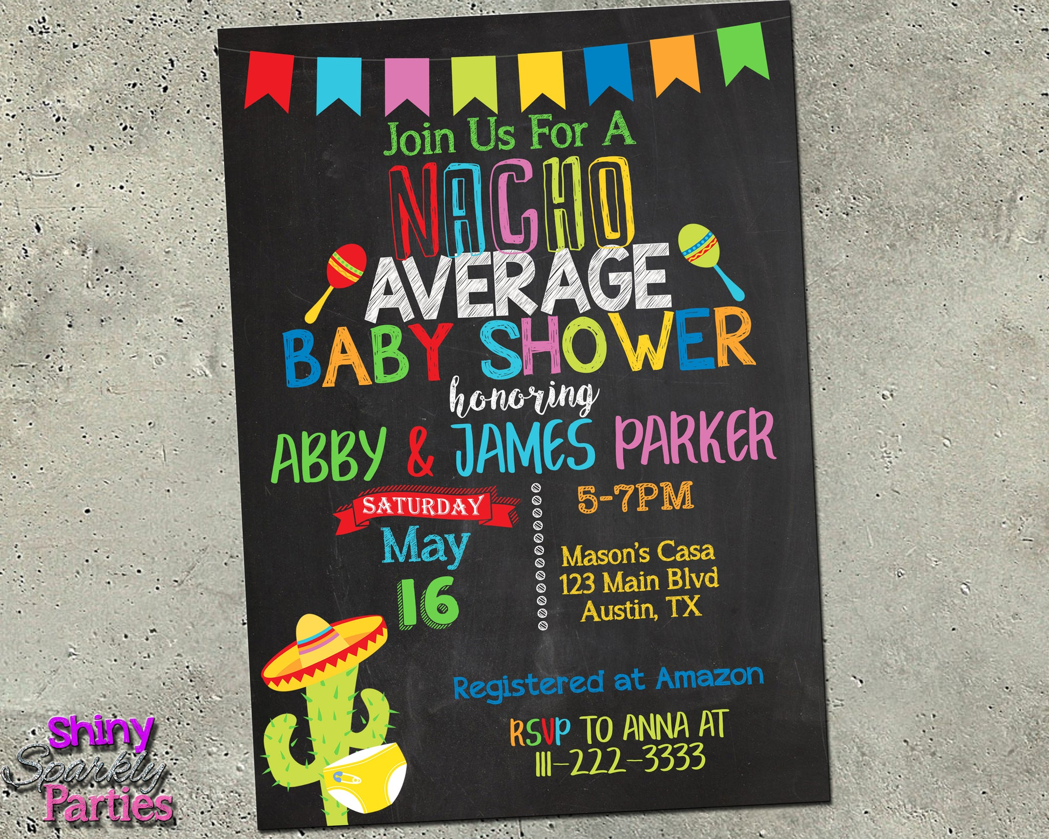 Fiesta Baby Shower Invitation - Forever Fab Boutique