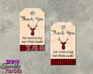 Deer Favor Tags (Digital File Only), Digital Download, Printable File - Forever Fab Boutique
