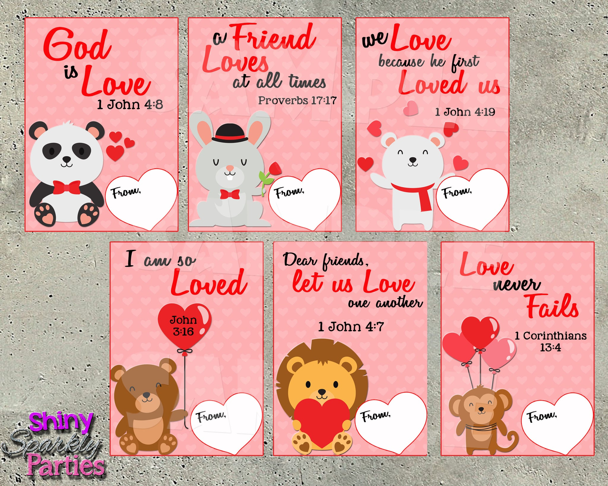 photo about Bible Verse Cards Printable referred to as Bible Verse Valentine Playing cards - Printable Prompt Obtain