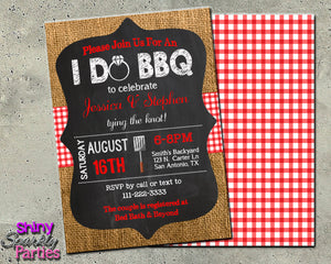 I Do BBQ Invitation - Engagement Party Invite, Digital Download, Printable File, Invitation - Forever Fab Boutique