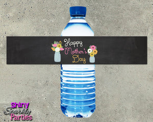 Mother's Day Water Bottle Labels -