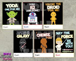 Star Wars Valentine Cards - Printable Instant Download