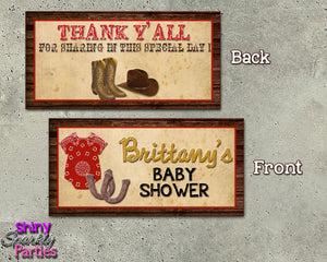 Western Baby Shower Party Package