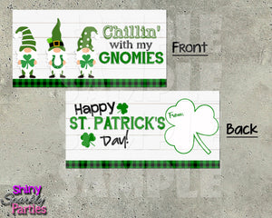 St. Patrick's Day Gnome Treat Bag Toppers - Instant Download