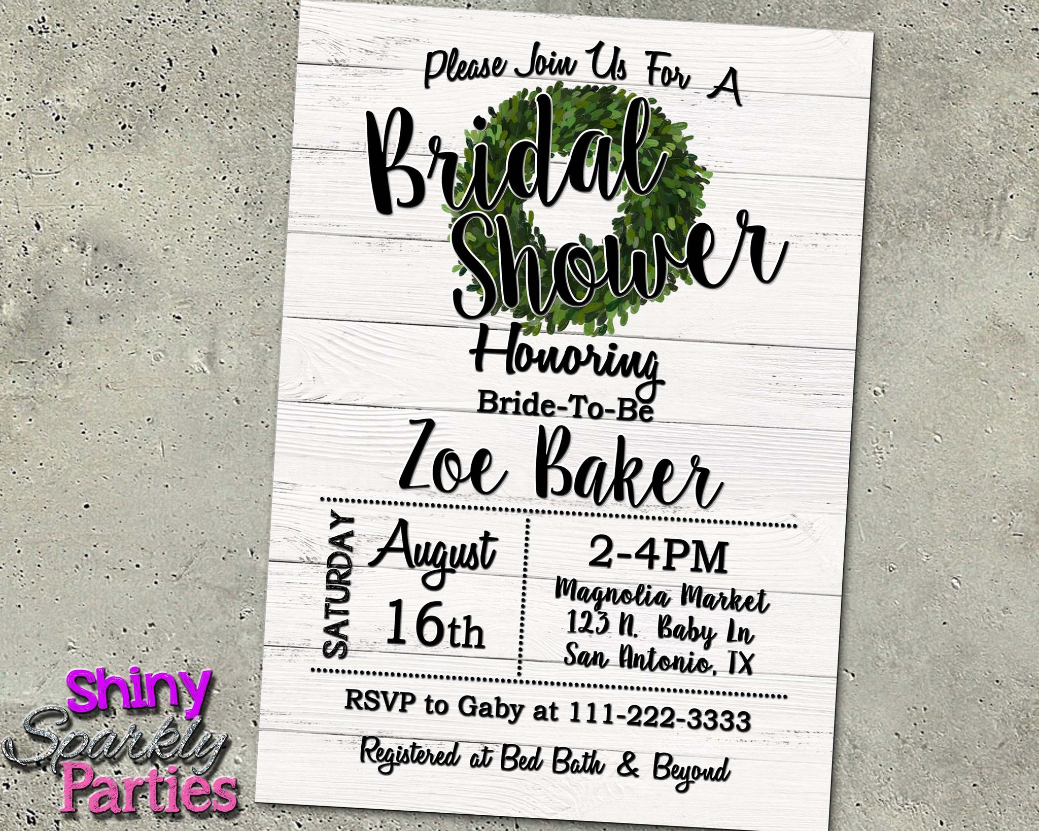 6a3d3d4ba8f Farmhouse Rustic Bridal Shower Invitation - Forever Fab Boutique