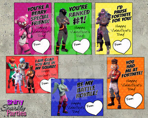 Fortnite Valentine Cards - Printable Instant Download