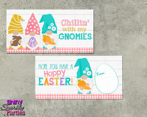 Easter Gnome Treat Bag Toppers