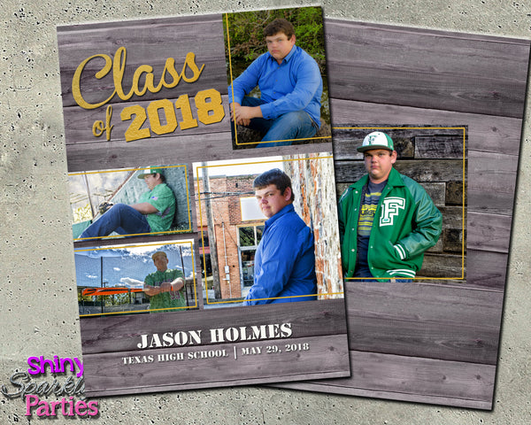 Rustic Graduation Announcement (Digital File Only)
