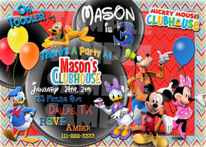 Mickey Mouse Clubhouse Birthday Invitation