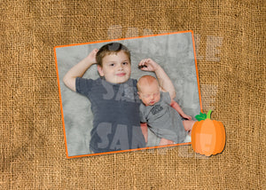 Pumpkin Fall Birth Announcement