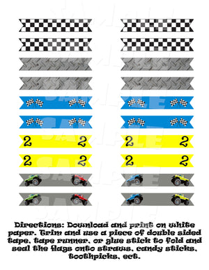 Monster Truck Party Package (Digital Files Only), Digital Download, Printable File, Party Package - Forever Fab Boutique