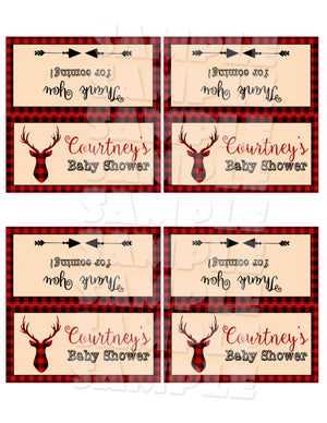 Rustic Deer Treat Bag Toppers (Digital File Only), Digital Download, Printable File - Forever Fab Boutique