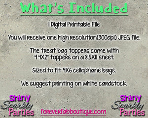 Printable Camo Hunting Treat Bag Toppers (Digital File Only), Digital Download - Forever Fab Boutique
