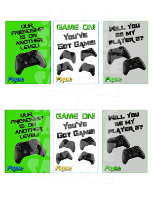 Video Game Valentines - Printable Instant Download