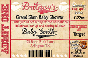 Baseball Baby Shower Invitation - Printable (Digital File Only)-Digital Download, Printable File, Invitation-Forever Fab Boutique