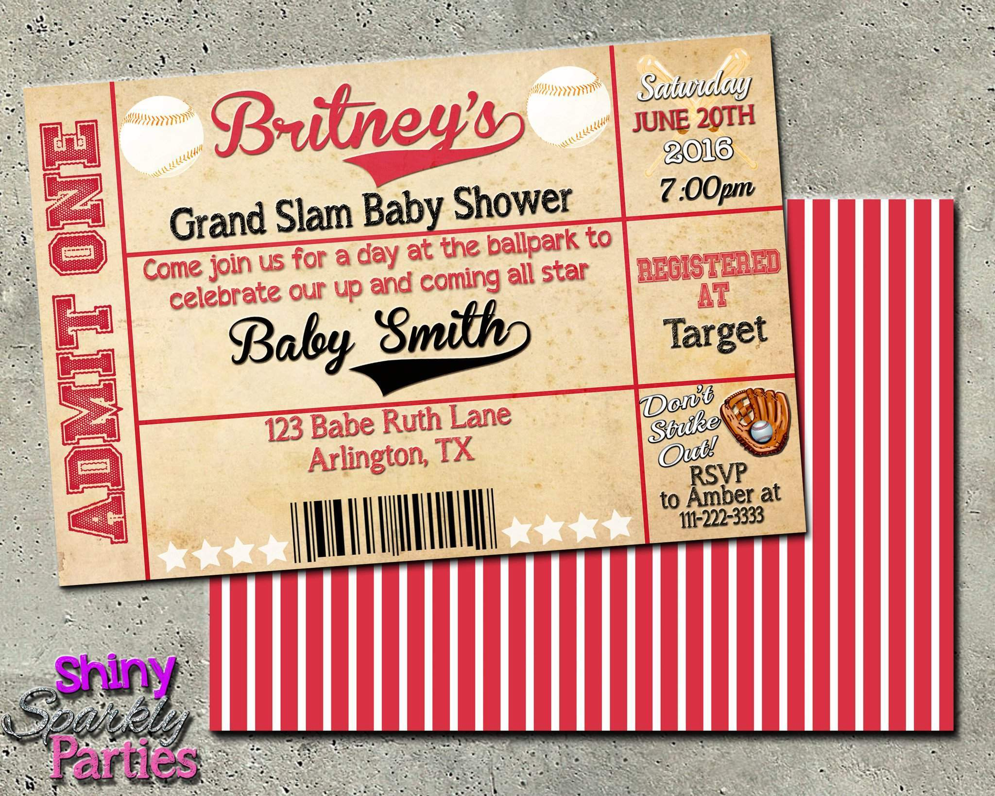 Baseball baby shower invitation forever fab boutique baseball baby shower invitation printable digital file only digital download printable filmwisefo