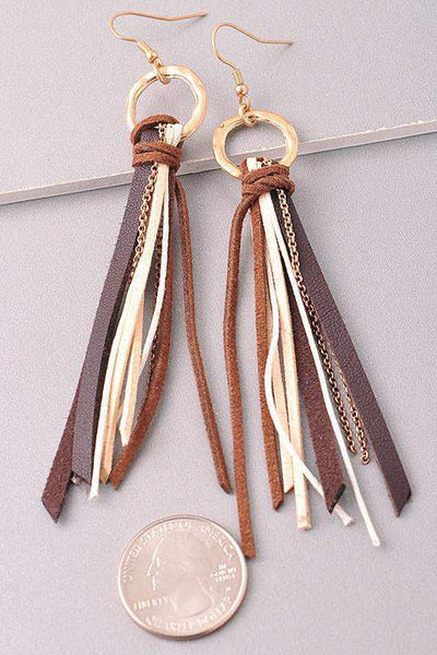 Boho Fringe Earrings-Jewelry-Forever Fab Boutique