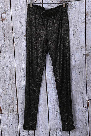 Center of Attention Sequin Pants Black-Bottom-Forever Fab Boutique