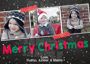 Christmas Photo Card - Custom Christmas Card - Printable (Digital File Only)-Digital Download, Printable File-Forever Fab Boutique