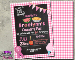 County Fair Birthday Invitation - Country Fair Invite - Printable (Digital File Only)-Digital Download, Printable File, Invitation-Forever Fab Boutique
