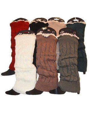 Dance With Me Leg Warmers With Lace-Accessory-Forever Fab Boutique