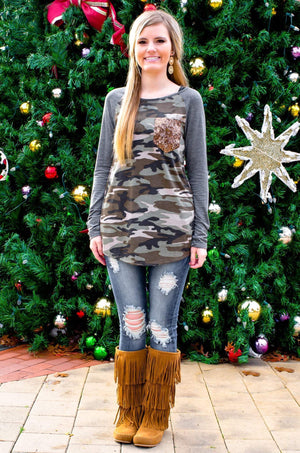 Do You See Me Now Camo Tunic Top-Top-Forever Fab Boutique