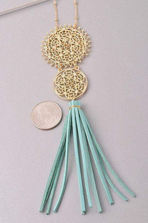 Don't Tassel Me Necklace in Mint-Jewelry-Forever Fab Boutique