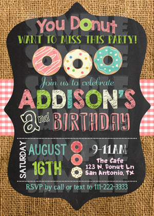 Donut Birthday Invitation - Donut Invite - Printable (Digital File Only)-Digital Download, Printable File, Invitation-Forever Fab Boutique