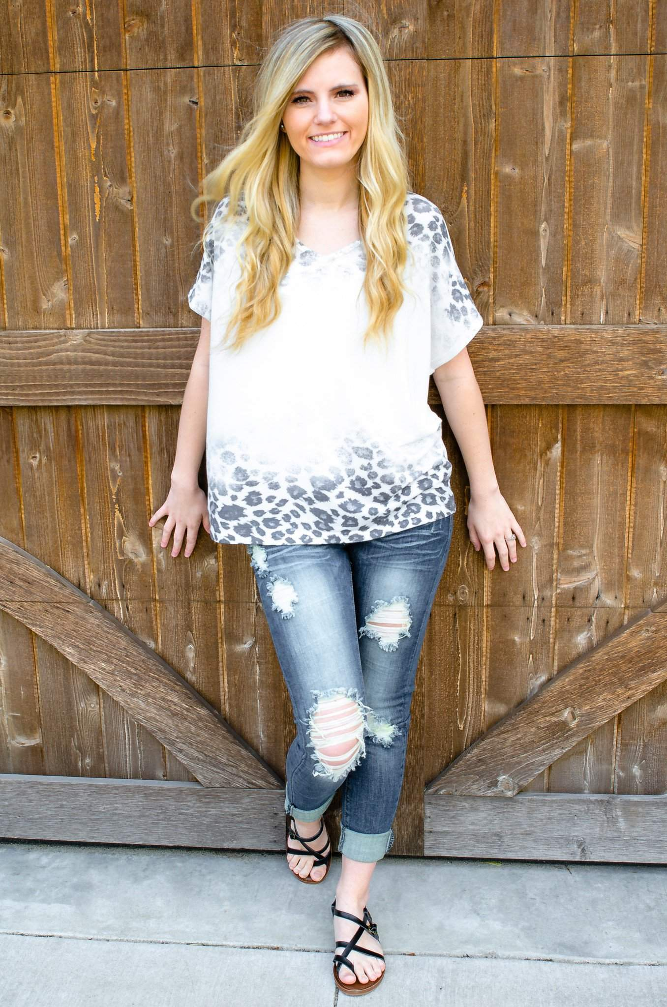 14a91043ebd6a Faded Leopard Print Dolman Top-Women s Top-Forever Fab Boutique