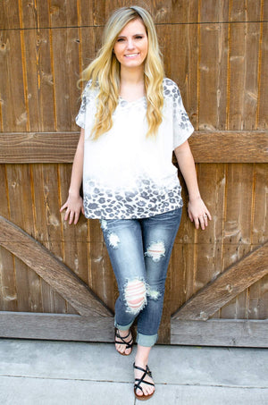 Faded Leopard Print Dolman Top-Women's Top-Forever Fab Boutique