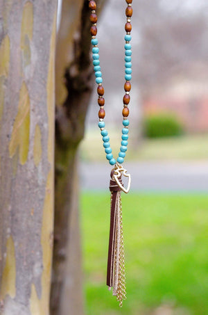 Follow Your Own Arrow Tassel Necklace-Jewelry-Forever Fab Boutique