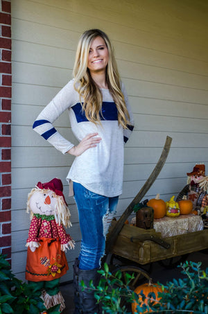 Friday Night Lights Top Navy-Top-Forever Fab Boutique