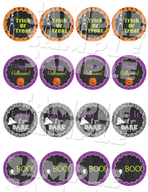 Halloween Cupcake Toppers - Halloween Party Decor-Digital Download, Printable File, Instant Download-Forever Fab Boutique