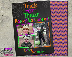 Halloween Photo Card - Custom Halloween Card - Printable (Digital File Only)-Digital Download, Printable File-Forever Fab Boutique