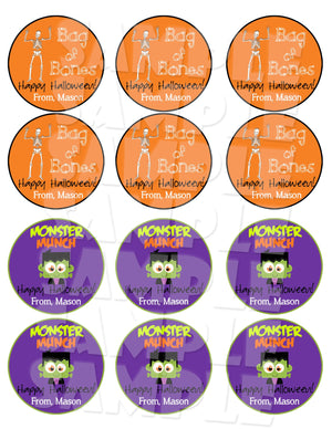 Halloween Tags or Labels - Printable (Digital File Only)-Digital Download, Printable File-Forever Fab Boutique