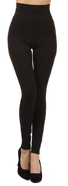 High Waist Tummy Control Leggings Black Brown-Forever Fab Boutique