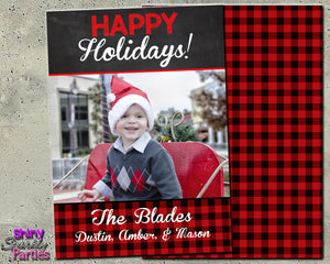 Holiday Photo Card - Christmas Card (Digital File Only)-Digital Download, Printable File-Forever Fab Boutique