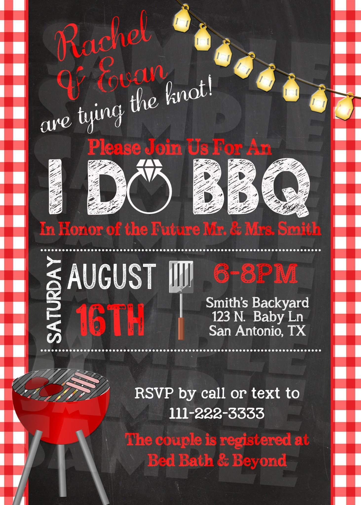 I Do BBQ Engagement Party Invitation - - Forever Fab Boutique