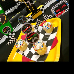 Printable Race Car Cupcake Toppers (Digital File Only), Digital Download - Forever Fab Boutique
