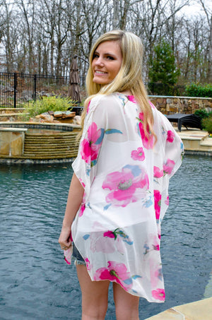 In Full Bloom Floral Kimono-Forever Fab Boutique