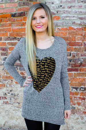Love Song Heart Tunic-Top-Forever Fab Boutique