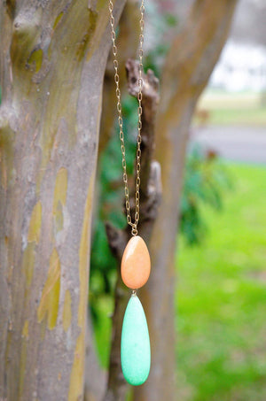 Mint Pendant Necklace-Forever Fab Boutique