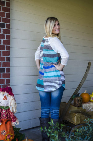 Monday Blues Knit Top-Top-Forever Fab Boutique