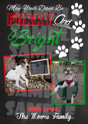Pet Christmas Card - Holiday Card (Digital File Only)-Digital Download, Printable File-Forever Fab Boutique