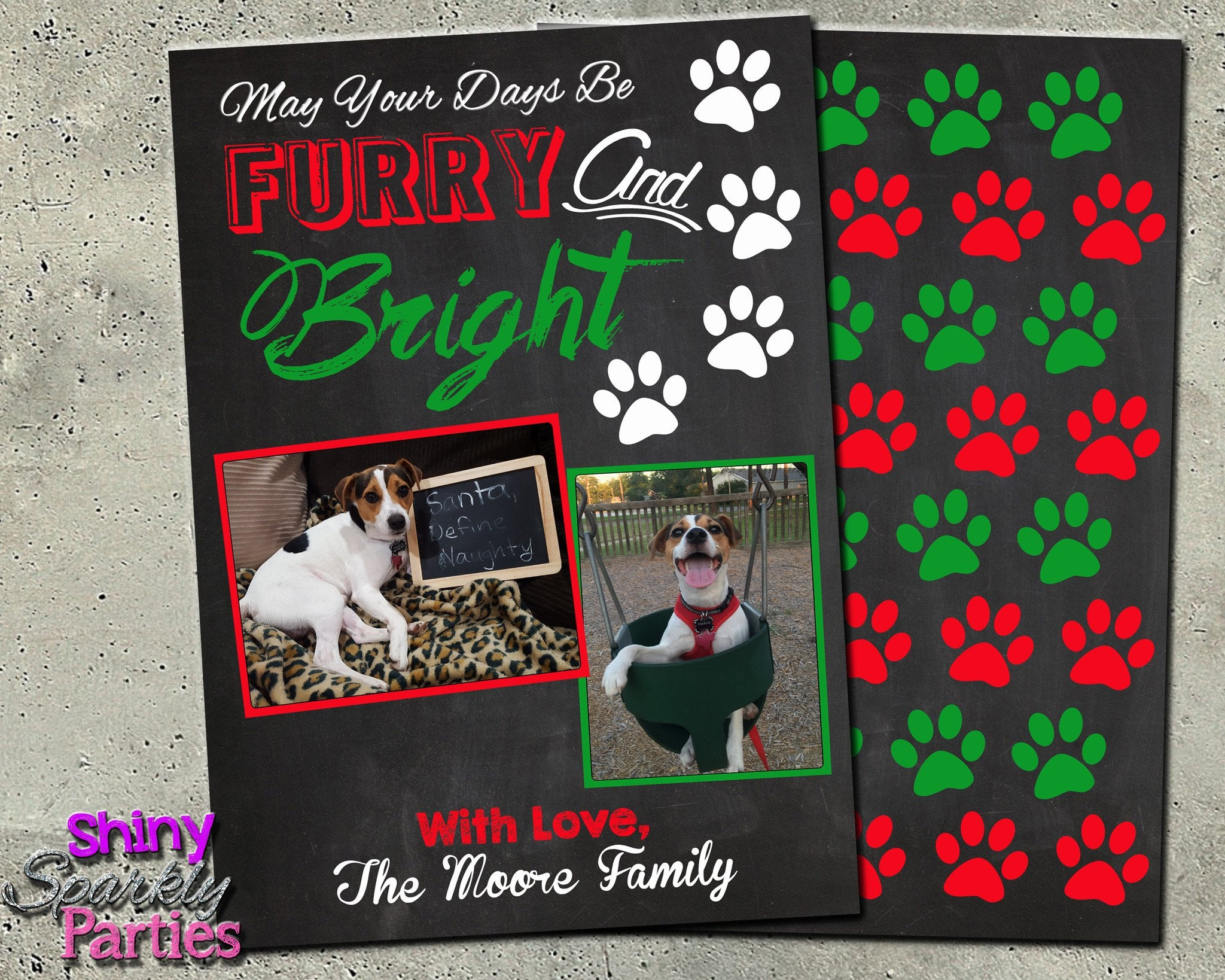Pet Christmas Card - Holiday Card - Forever Fab Boutique