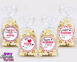 Popcorn Valentine Tags - Printable (Digital File Only)-Digital Download, Printable File, Instant Download-Forever Fab Boutique