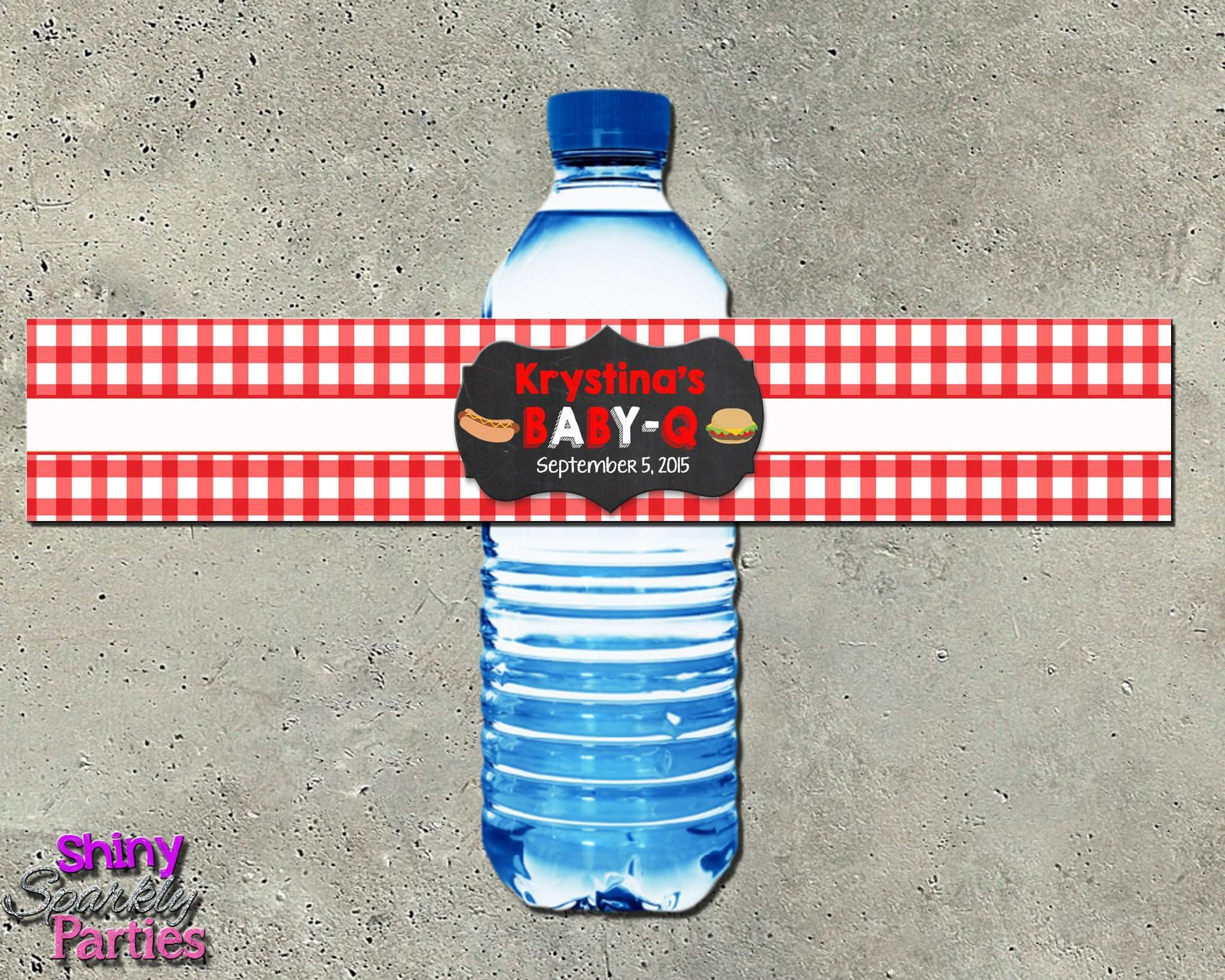 Bbq Baby Shower Water Bottle Labels Forever Fab Boutique