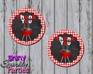 Printable BBQ Favor Tags (Digital File Only)-Digital Download-Forever Fab Boutique