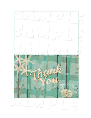 Printable Beach Bridal Shower Thank You Card (Digital File Only)-Digital Download-Forever Fab Boutique