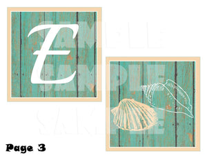 Printable Beach Themed Bridal Shower Banner (Digital File Only)-Digital Download,Printable File-Forever Fab Boutique